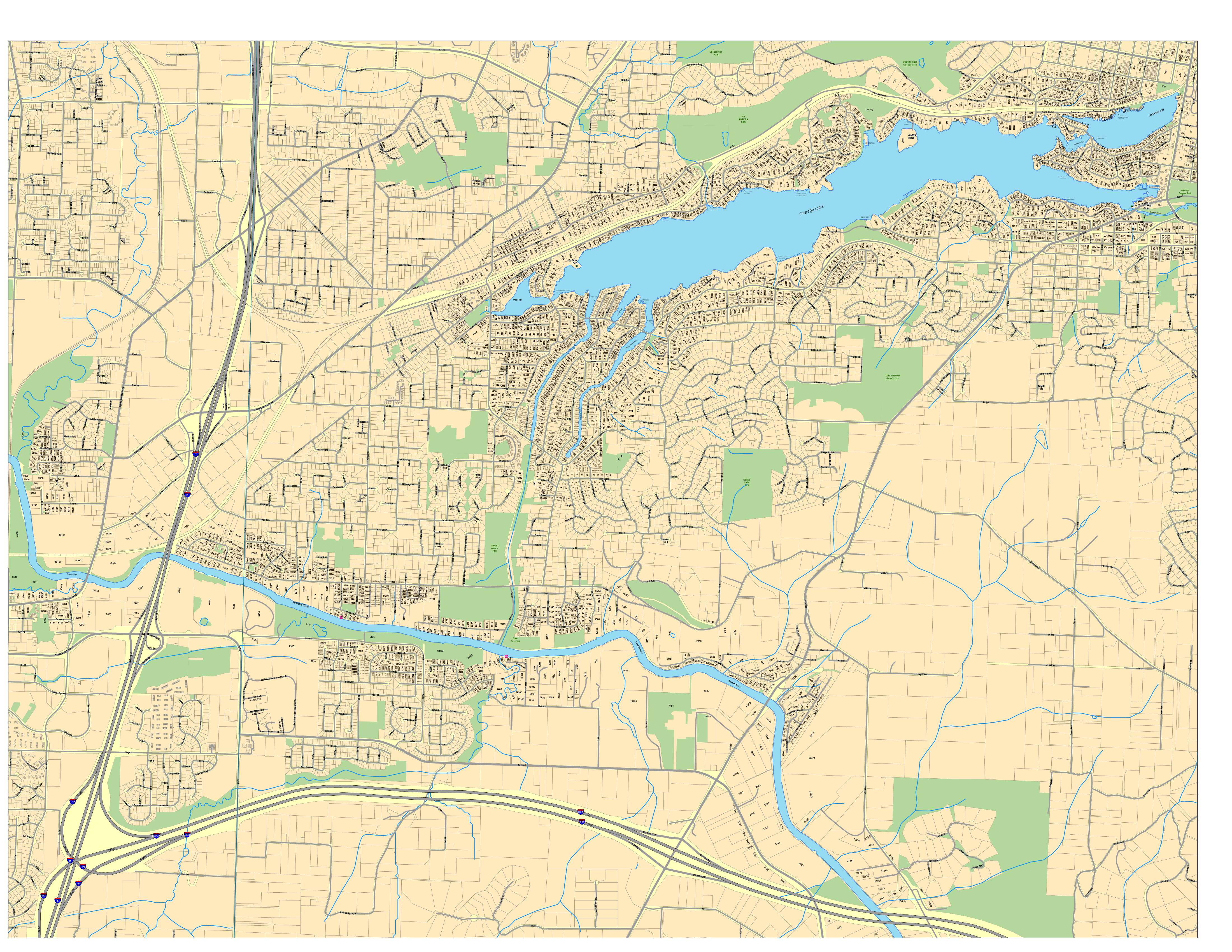 Maps are cool Wall Map for Lake Oswego Fire DeptMaps are cool
